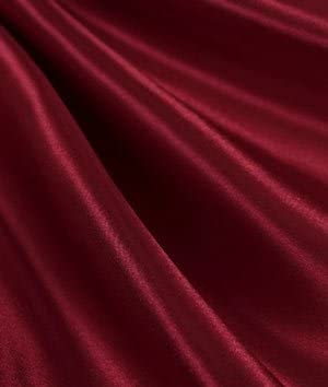 """mds Pack of 40 Yard Charmeuse Bridal Solid Satin Fabric for Wedding Dress Fashion Crafts Costumes Decorations Silky Satin 44""""- Maroon"""