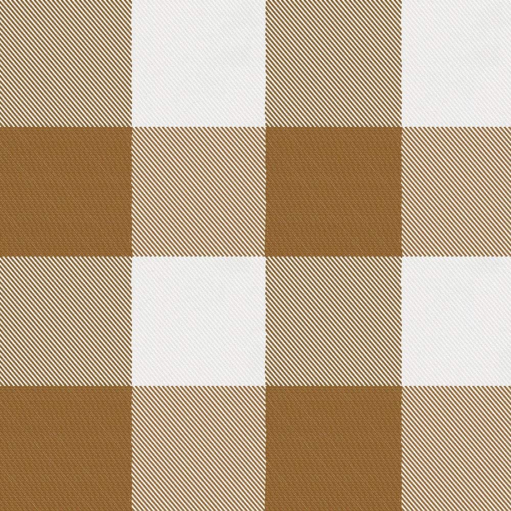 Carousel Designs Caramel Buffalo Check Fabric by The Yard - Organic 100% Cotton
