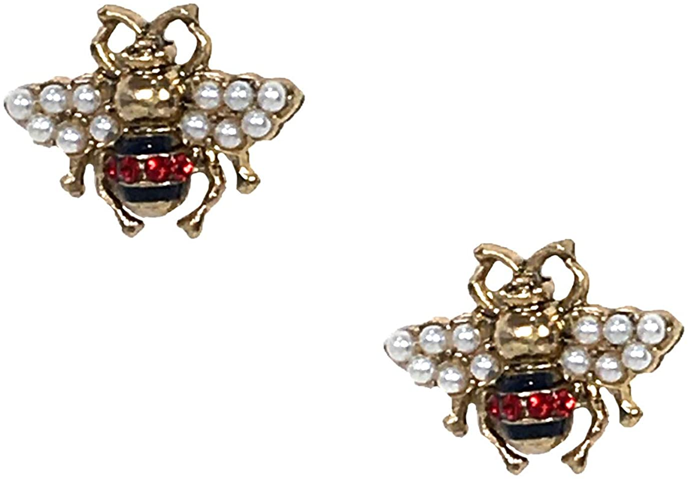 Be Embellished Queen Bee Stud Earrings, Goldtone