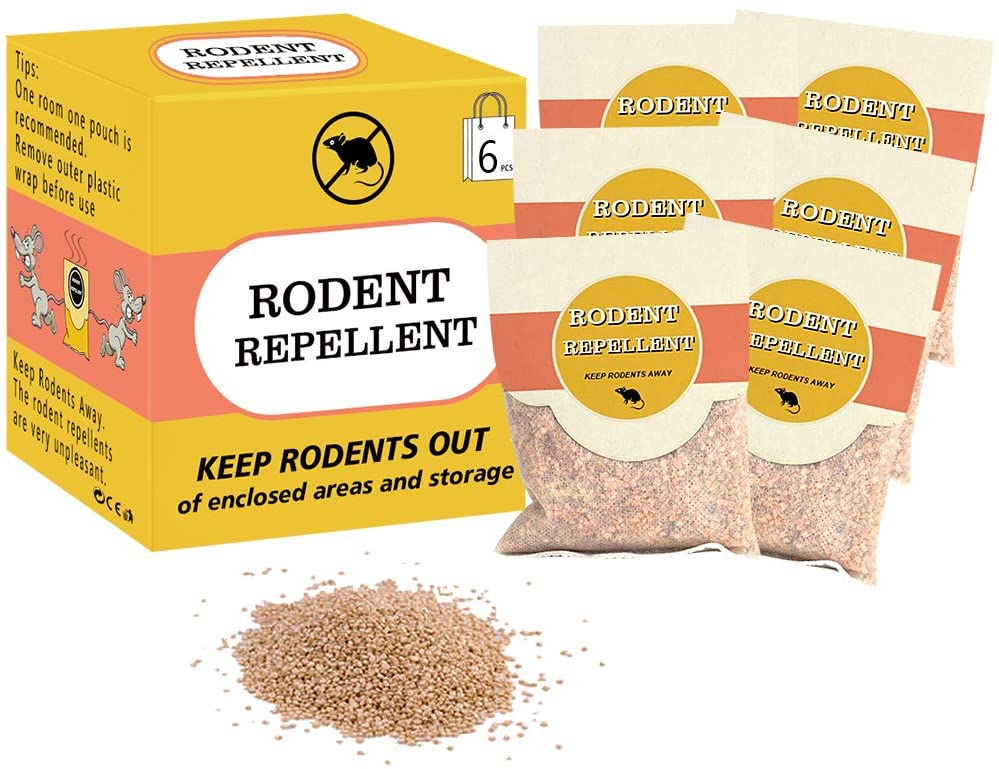 SEALUXE Rodent Repellent,Mouse Repellent,Pest Control,Mice Repellent,Rat Repellent,Insect Repellent 6-Pack
