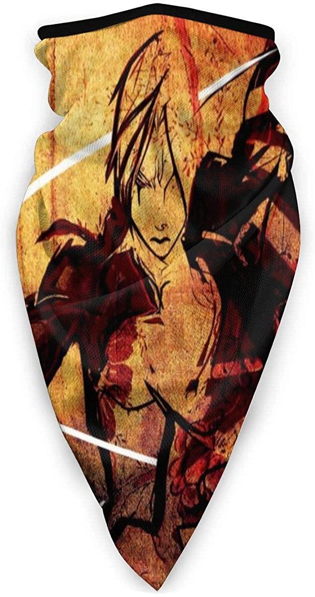Fullmetal Alchemist Edward Elric Fma Windproof Sports Mask,Balaclava,Unisex Bandana Face Mask Neck Gaiter Headwear Tube Mask Scarf