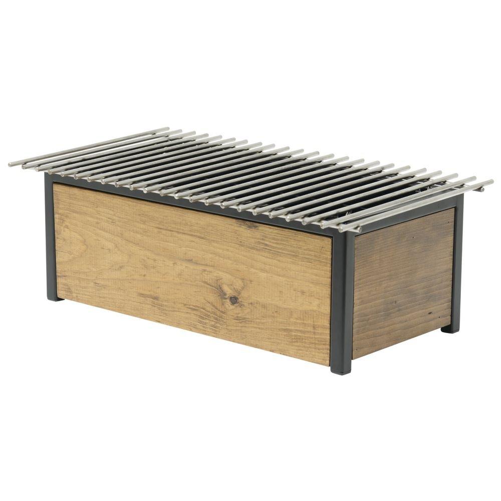 Reclaimed Wood Rectangular Full Size Alternative Chafer - 12 3/4