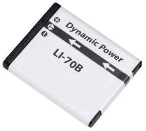 Li-70B Lithium-Ion Battery - Rechargeable Ultra High Capacity (700 mAh) - Replacement For Olympus Li-70B Battery