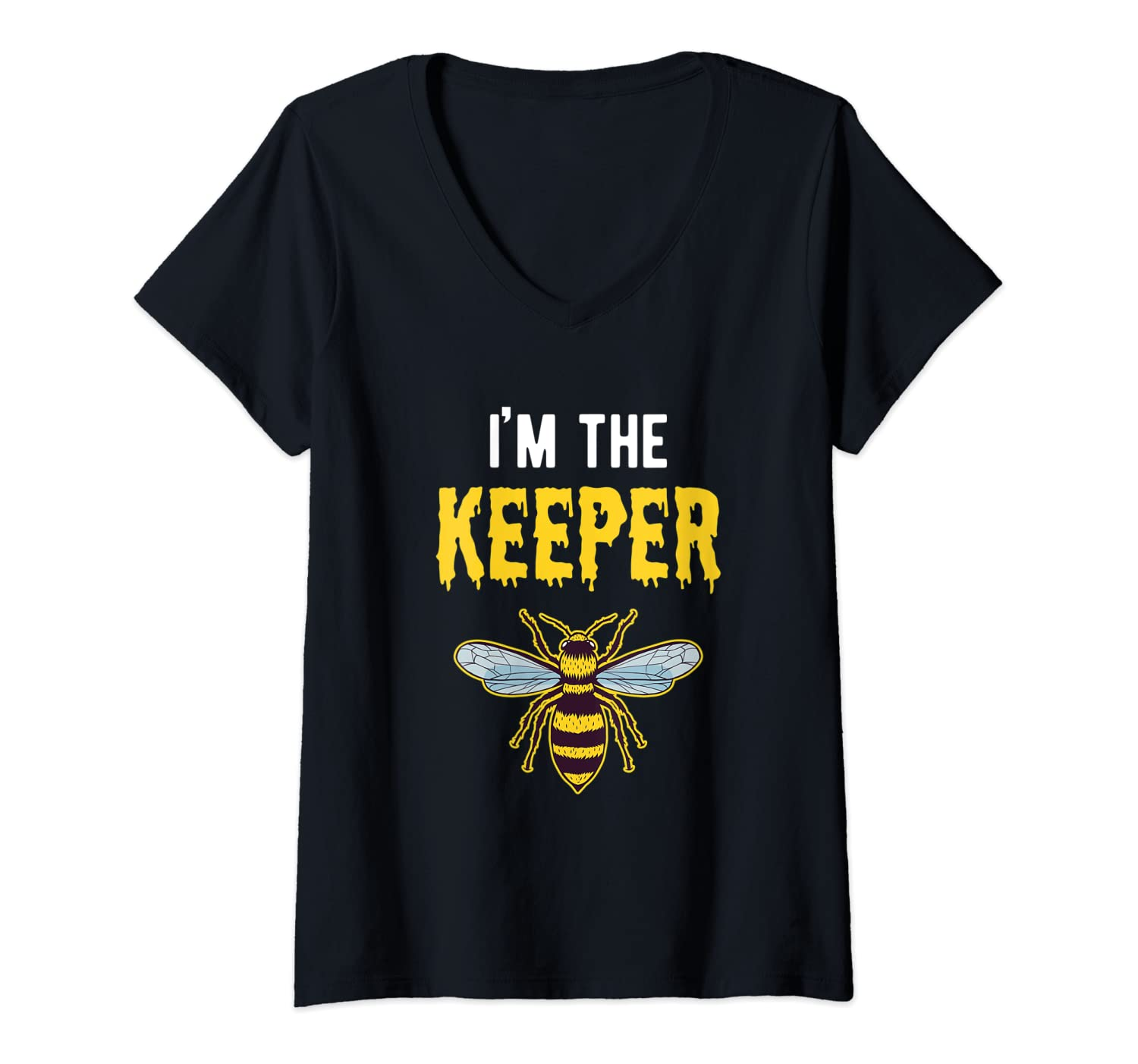 Womens I'm The Keeper Outfit Couples Gift for Him Men V-Neck T-Shirt