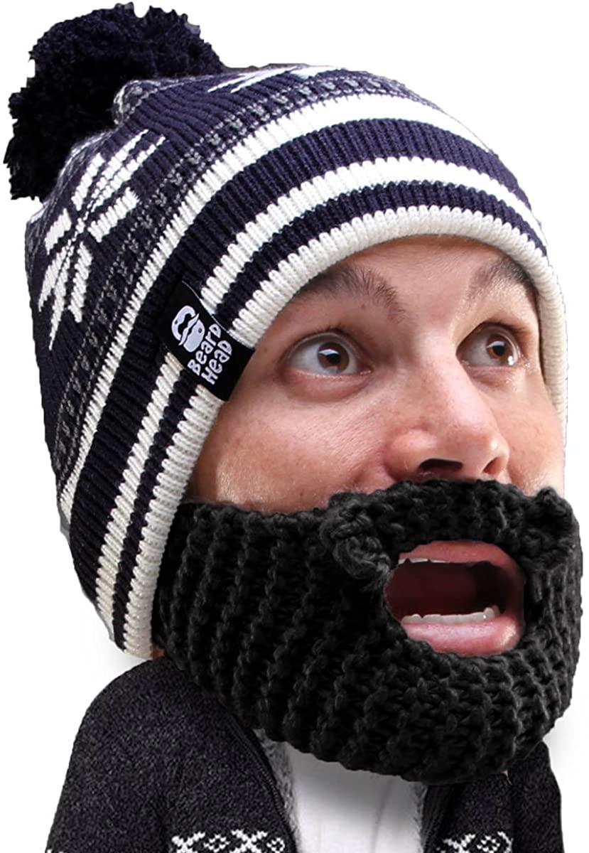 Beard Head Stubble Bumper Beard Beanie - Funny Winter Hat and Fake Beard Costume