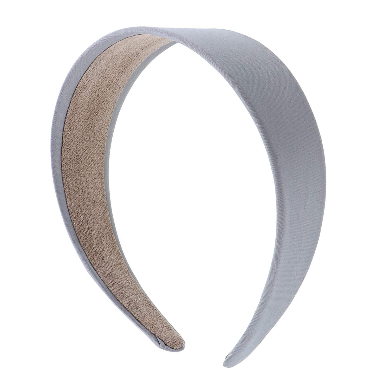 Girls 2 inch Satin Headband - Grey