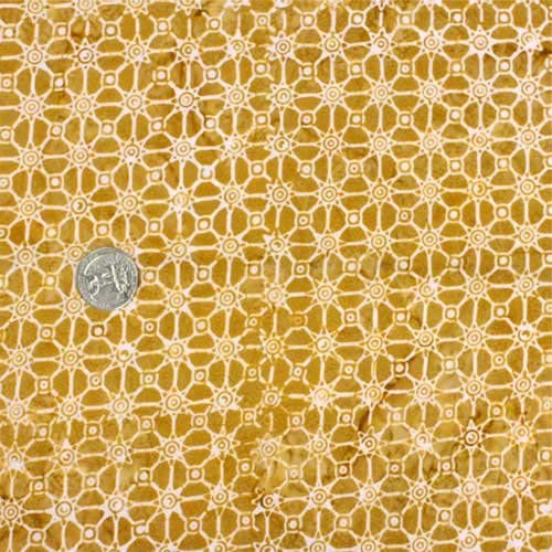 Batik Fabric, Connections, Gold, by The 1/2 Yard