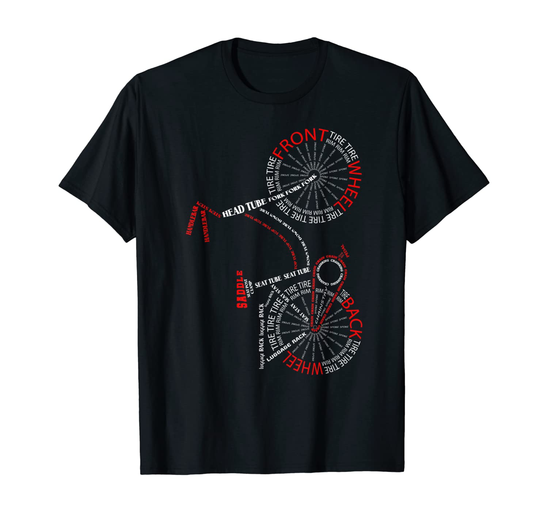 Bicycle Anatomy - City Bike Biking Parts Cycling Gift T-Shirt