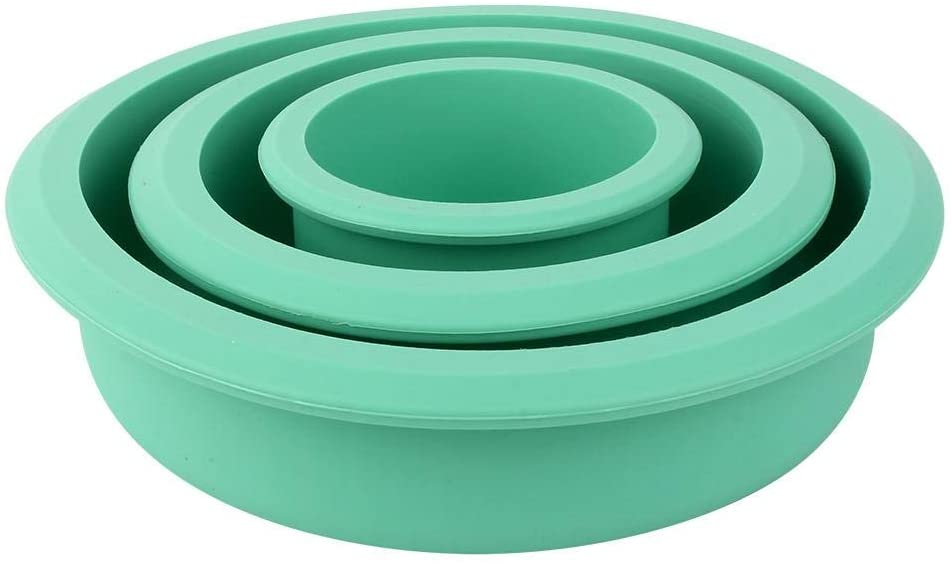Zerone 3 Layer Silicone Cake Mold Pizza Plate DIY Mould Round Tools