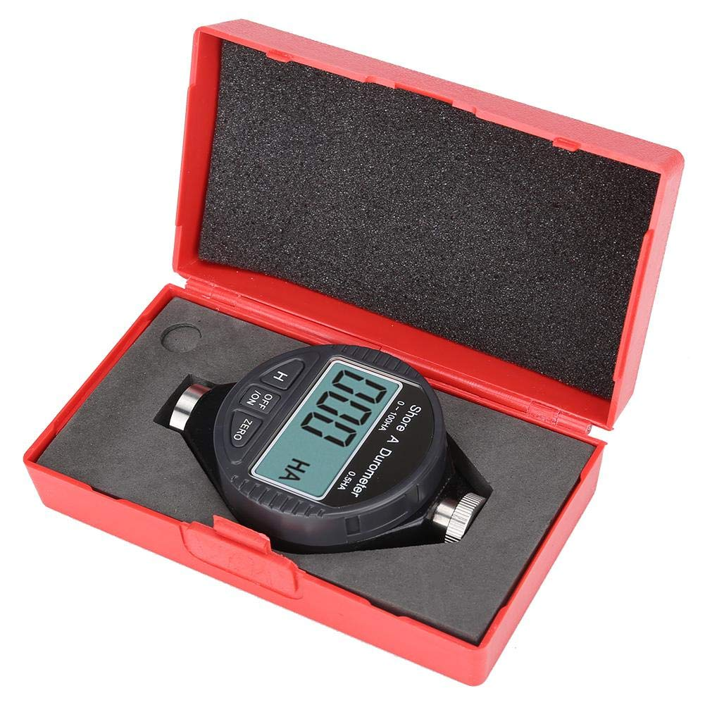 Hardness Tester, Practical and Strong, LCD Display, Rubber Tire Durometer, Durable and Stable, for Rubber for Silica Gel