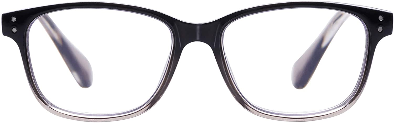 AMOMOMA Rectangle Reading Glasses Readers with Blue Light Filter Blocking Computer Glasses for Men and Women AM6002