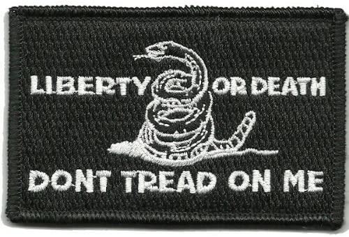 Shoulder Patch Culpeper Liberty Or Death - Black