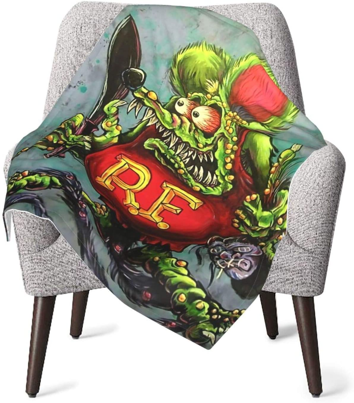 JimmyMilly Rat Fink Stylish Soft Warm Cozy Blanket Toddler Baby Comfort Blanket Lightweight Blanket Fluffy Blanket for Travel 30x40in
