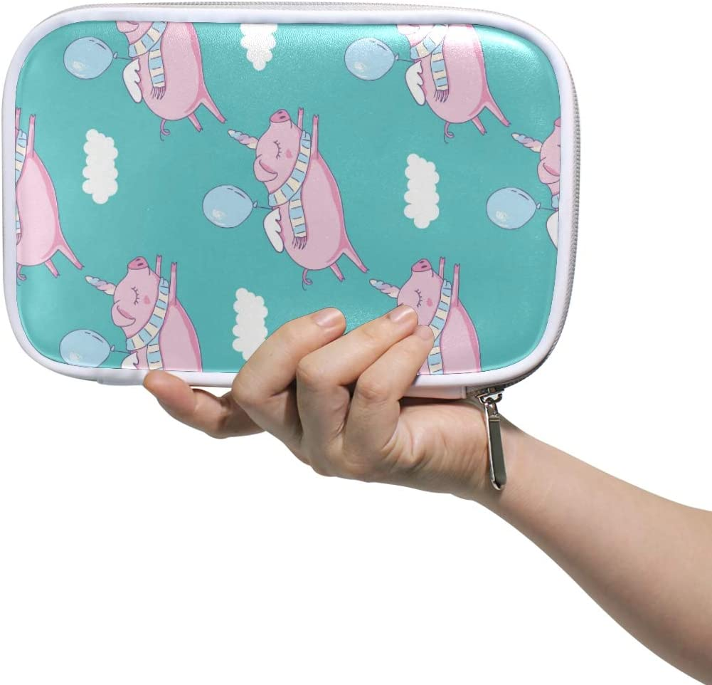 Pencil Case Cute Pig Unicorn Multi-Functional Pen Box for Kids Boys Girls School Cosmetic Makeup Bag Passport Holder Travel Organizer Bag