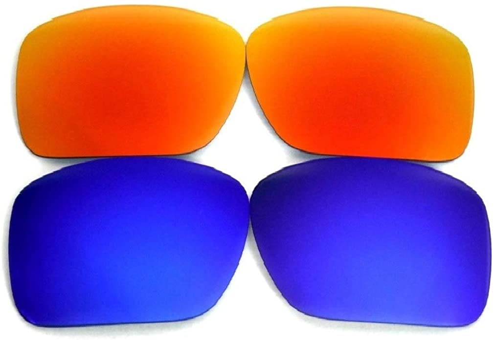 Galaxy Replacement Lenses For Oakley Big Taco Sunglasses Black/Blue Polarized 2 Pairs