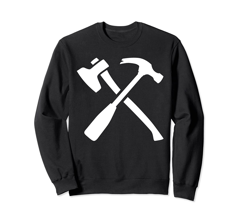 Crossed hammer and axe Sweatshirt