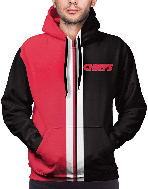 QINLI 2020 Men's 3D Digital Print Fashion Hooded Chiefs Sport Hoodie Long Sleeve Sweatshirt Football Team Hoodies