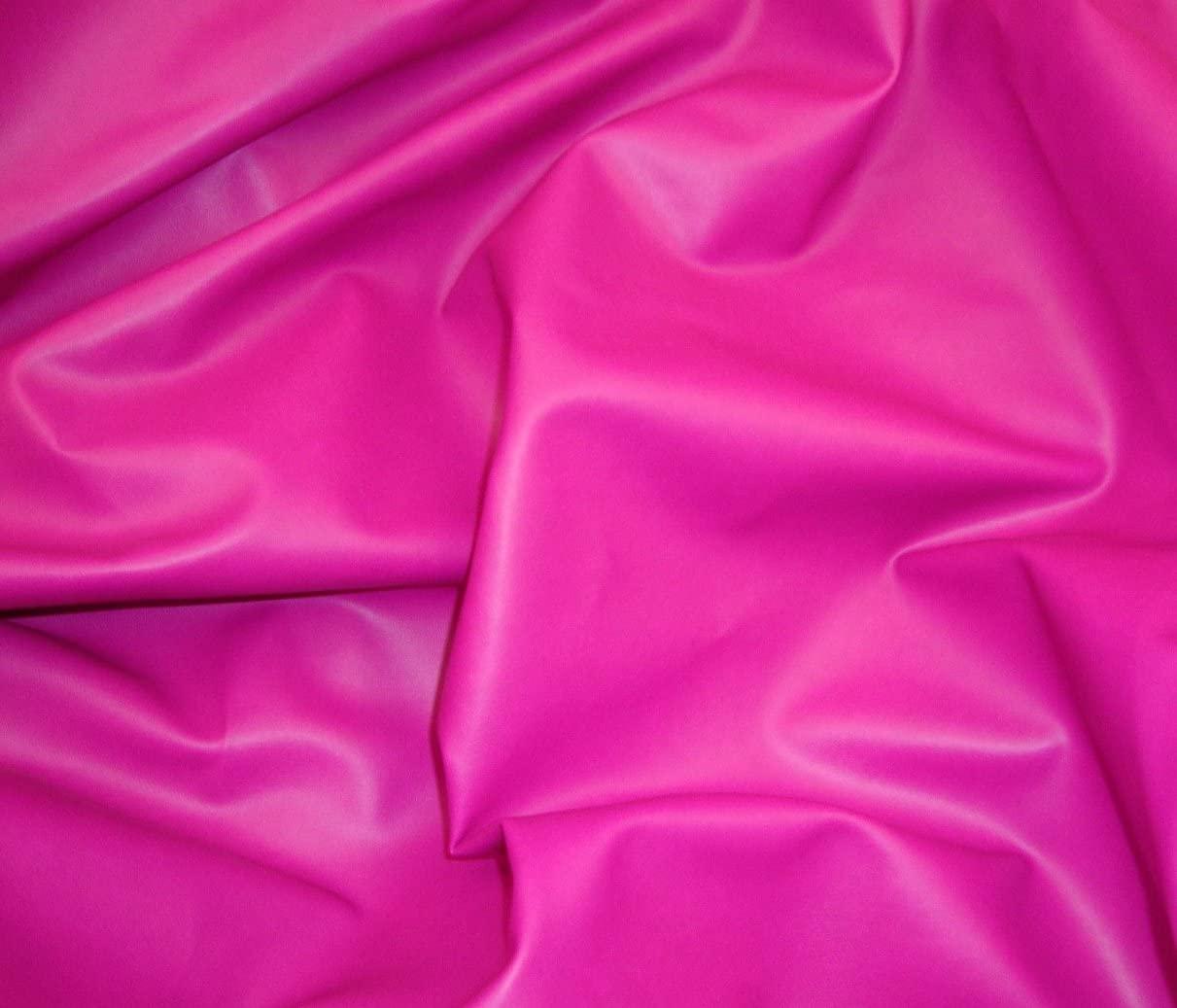 luvfabrics Vinyl Faux Leather Fuchsia Soft Skin Upholstery Fabric 55