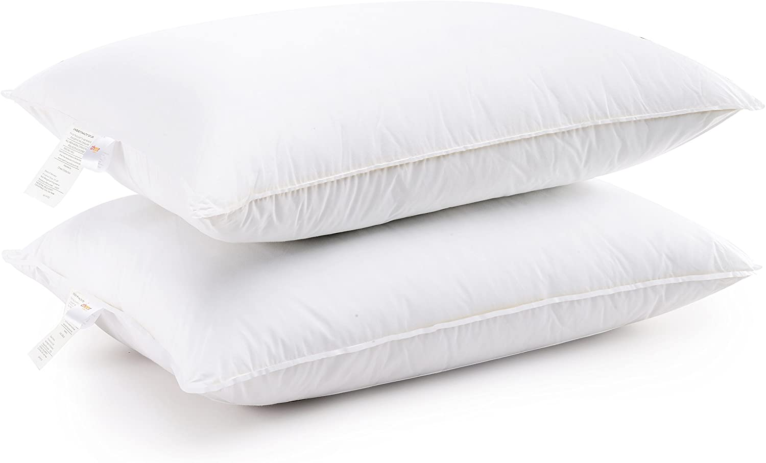 Cheer Collection King Size Sham Inserts - Comfortable Hollow Fiber 20 x 36 Bed Pillows, Set of 2