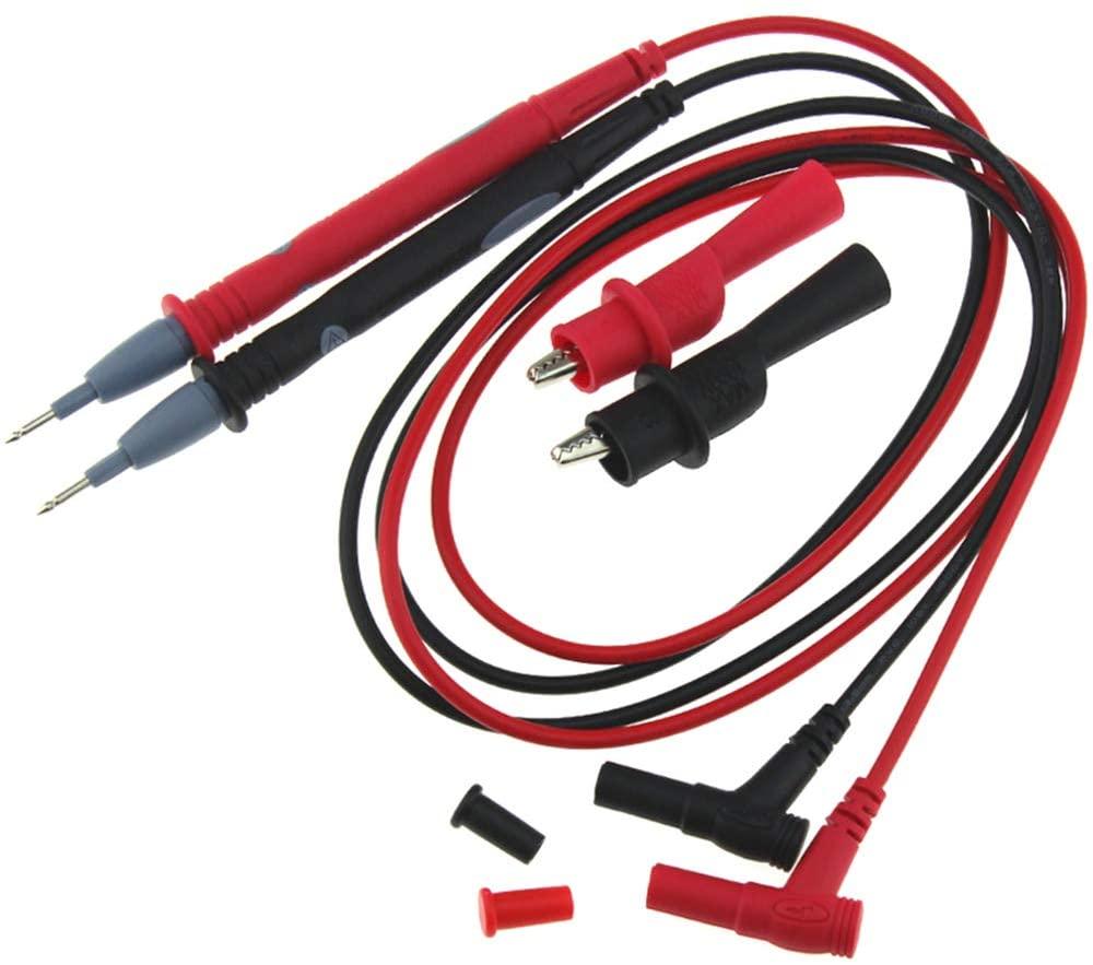 Doolland PT1003 1000V 20A Banana Universal Multimeter Test Probe Leads Cable + Crocodile Clip