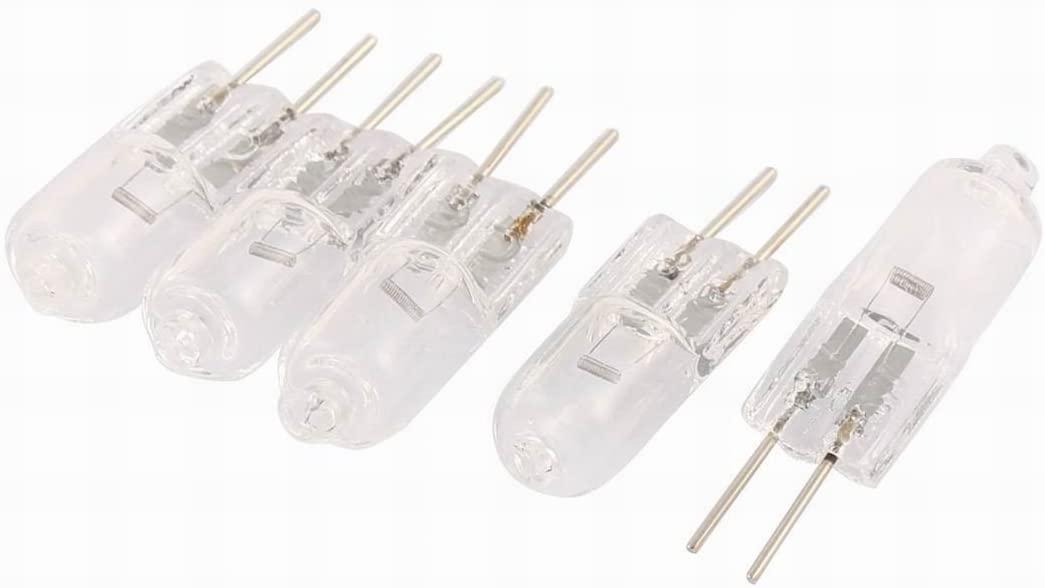 Houseuse 12V 20W Bi-Pin G4 Base Halogen Light Bulb Lamp 5 Pcs Warm White