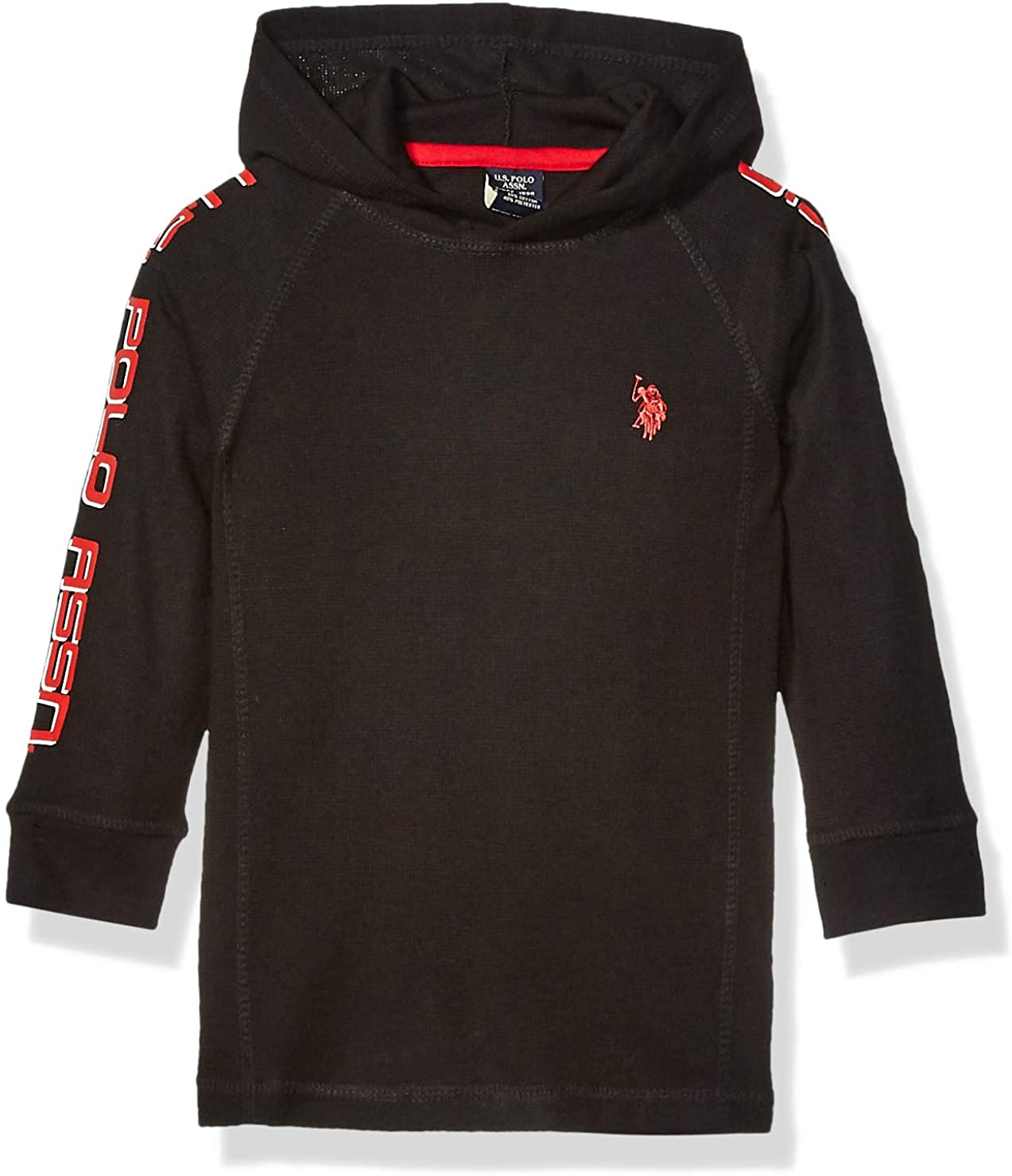 U.S. Polo Assn. Boys' Hooded Thermal Popover Shirt