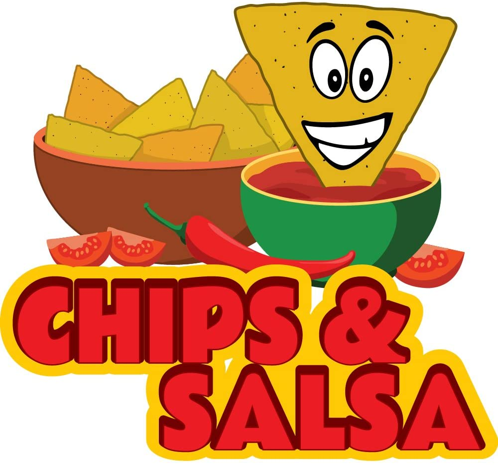 Chips & Salsa 12 Concession Decal Sign cart Trailer Stand Sticker Equipment