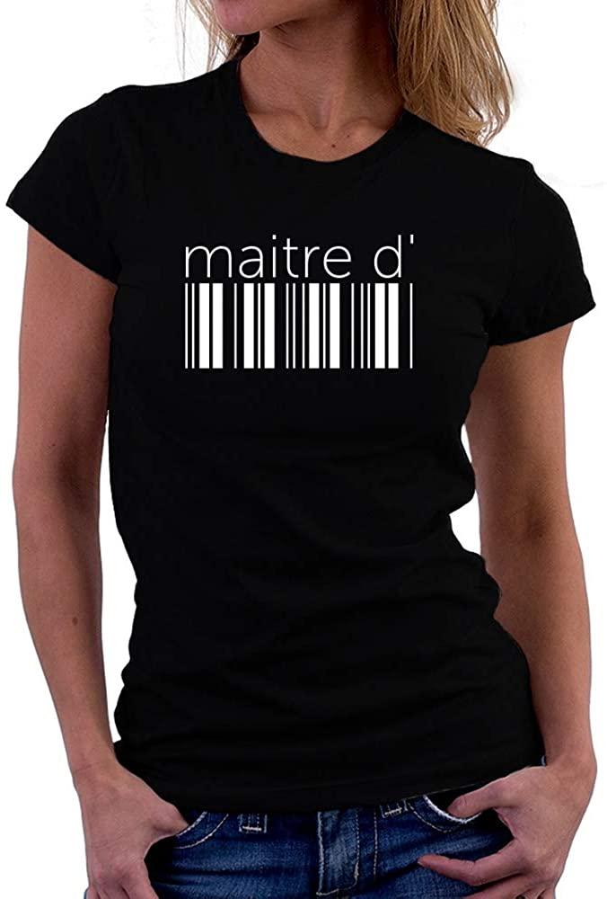 Teeburon Maitre D' Lower Barcode Women T-Shirt