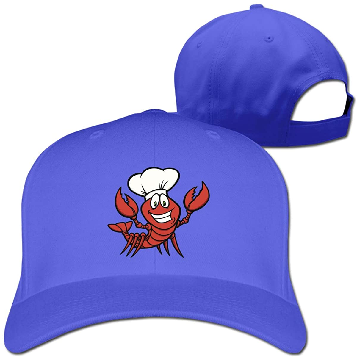 Crawfish Chef Cooking Printed Baseball Hat Adjustable Six Panel Caps Casquette