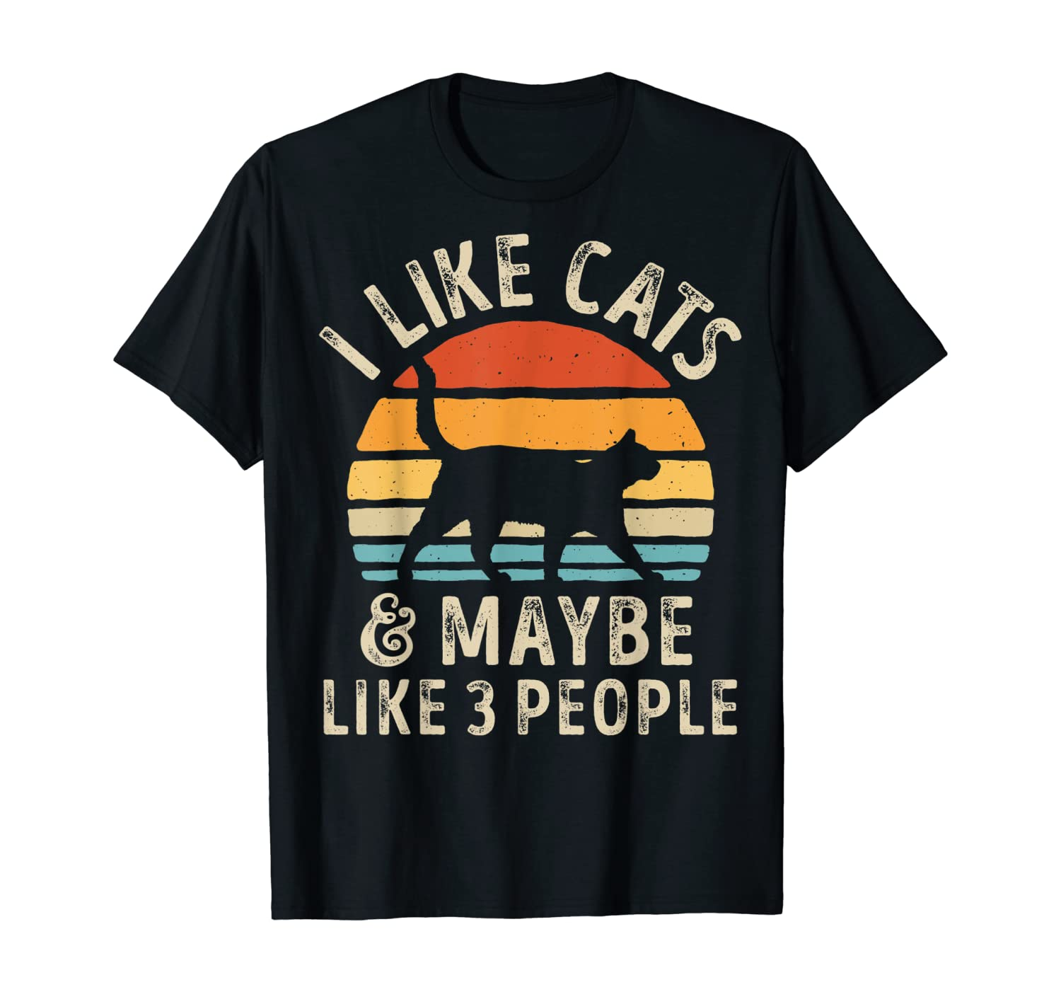 I Like Cats And Maybe Like 3 People Cat Lover Gifts Women T-Shirt