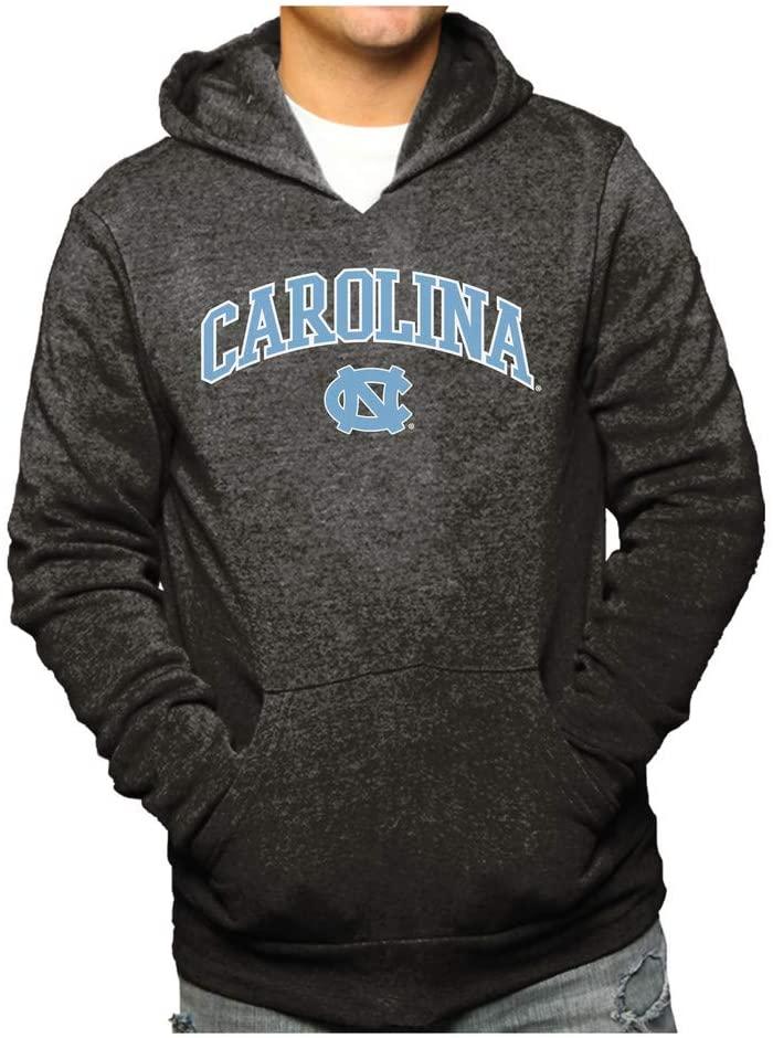 Elite Fan Shop North Carolina Tar Heels Hooded Sweatshirt Heather Arch Gray