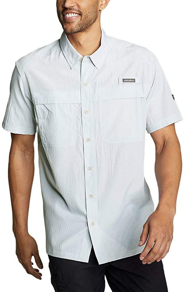 Eddie Bauer Men's Guide Short-Sleeve Shirt, Lt Gray Regular M