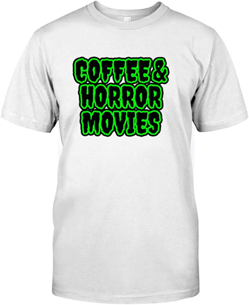 Sharking Baby Coffee-and-Horror-Movies-T-Shirt