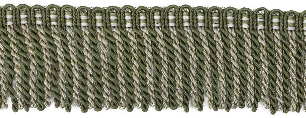 BEL AVENIR Bullion Fringe Trim Basic Trim Collection 6.8 Yard x 2.5 Inches (Green)