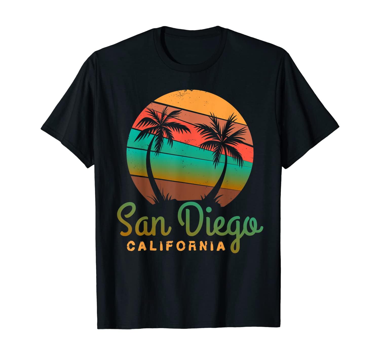 San Diego CA print Palm Trees California Souvenir T-Shirt
