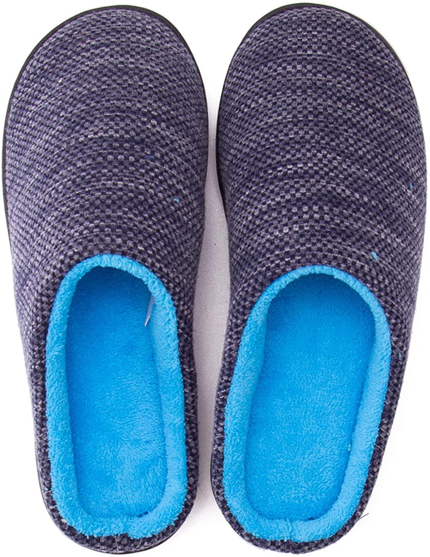 Komfyea Comfy Velvet Fabric Fur Womens Memory Foam Slipper Shoes(Male/Female)