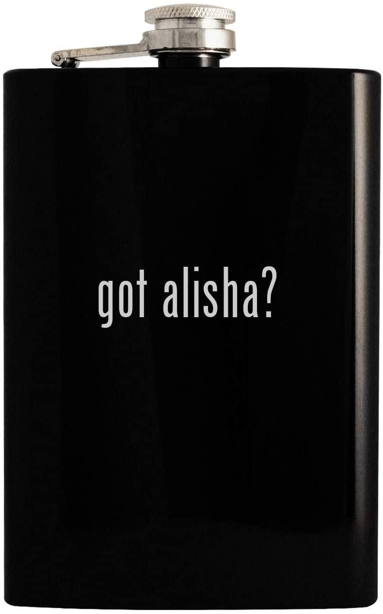 got alisha? - Black 8oz Hip Drinking Alcohol Flask