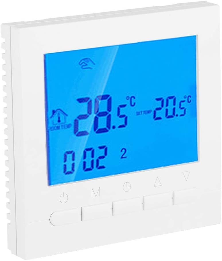 Digital Thermostat, Programmable WiFi Heating Thermostat Digital LCD Screen App Control With User manual 110V