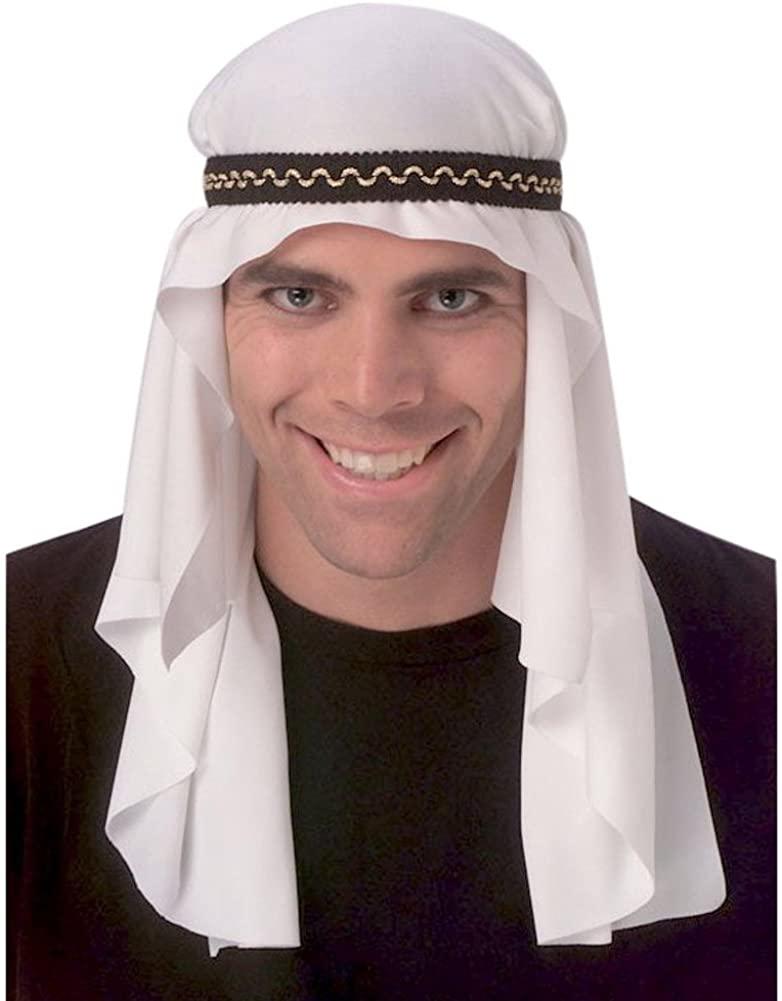 MyPartyShirt Arabian Mantle Headpiece White