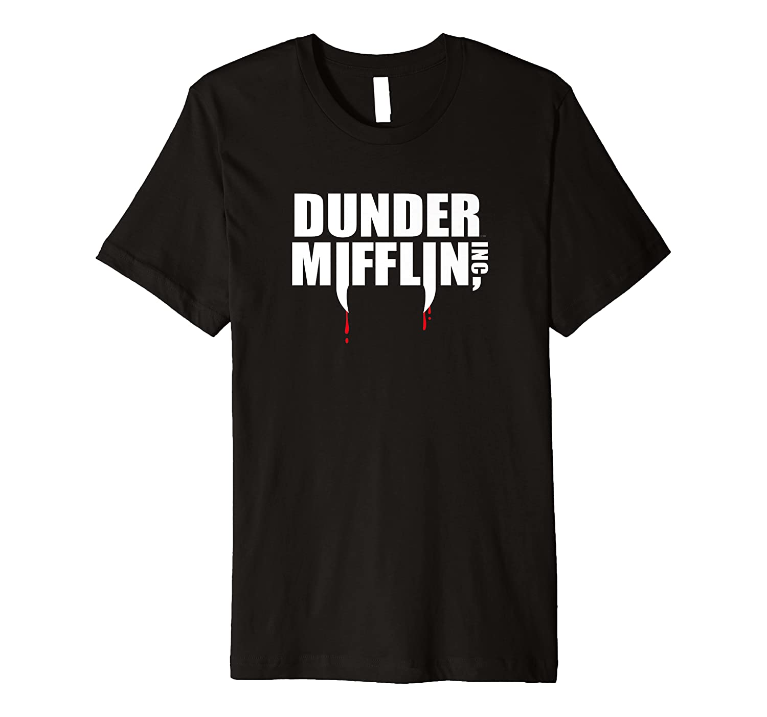 The Office Dunder Mifflin Fangs Logo Premium T-Shirt