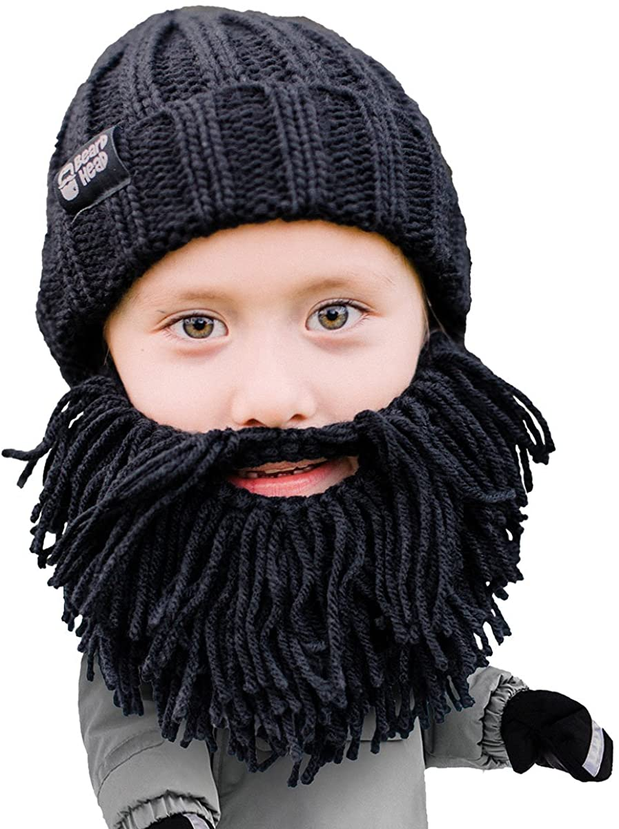 Beard Head Kid Vagabond Beard Beanie - Knit Hat and Fake Beard for Kids Toddlers