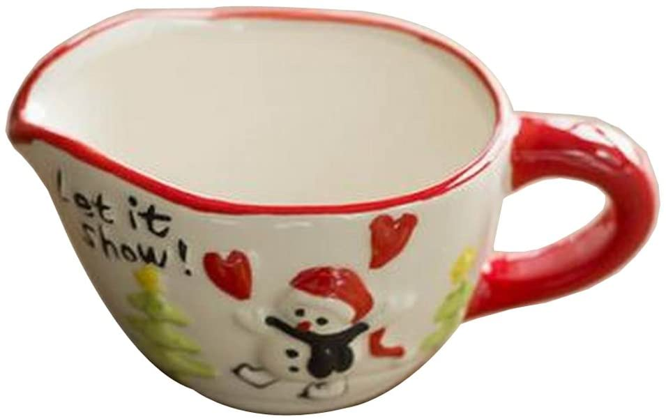 Alien Storehouse Set of 4 Cute Ceramic Dessert Bowls Ramekins Souffle Baking Cups, Snowman