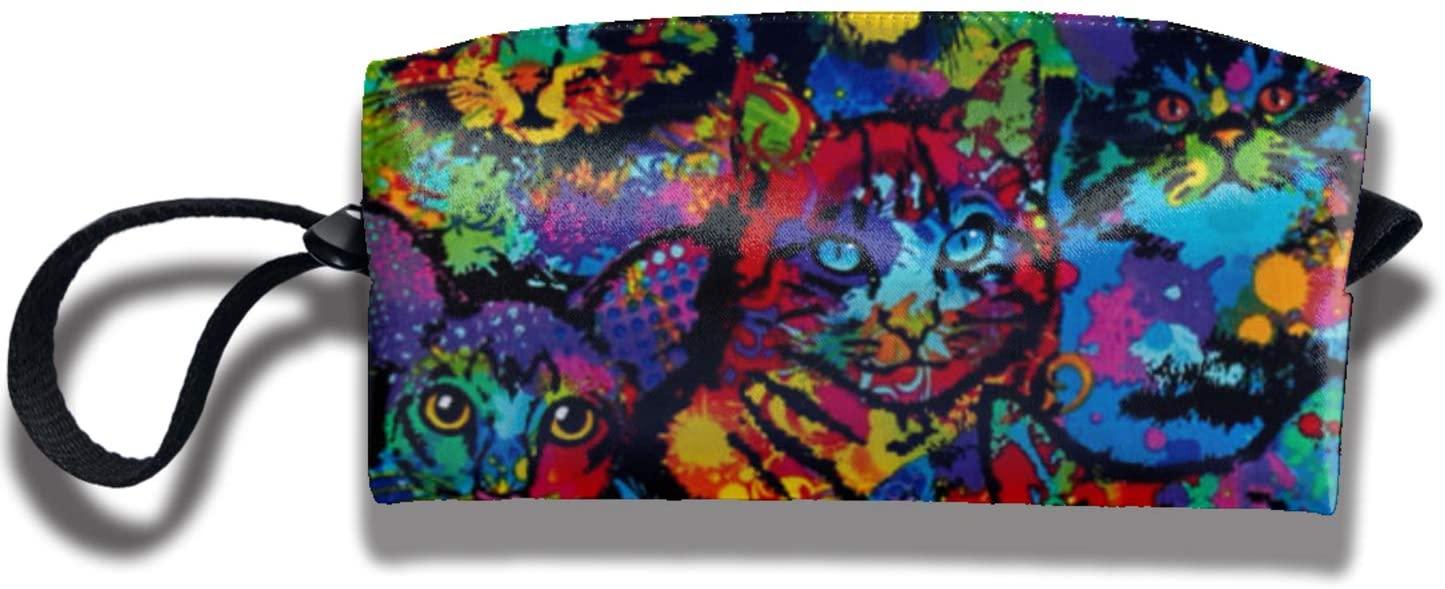 antkondnm Brite Cats Travel Handbag Cosmetics Bag Case Purse Travel Home Portable Make-Up Receive Bag