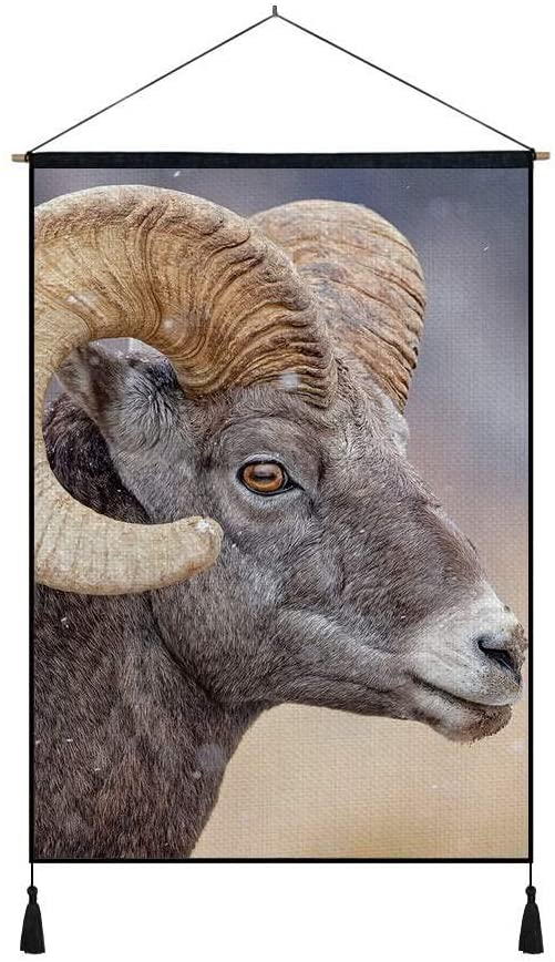 KaoHun Sheep Horn Eyes - Art Print on Canvas Wall Hanging Poster Home Wall Decoration Poster Painting (16x24inch)