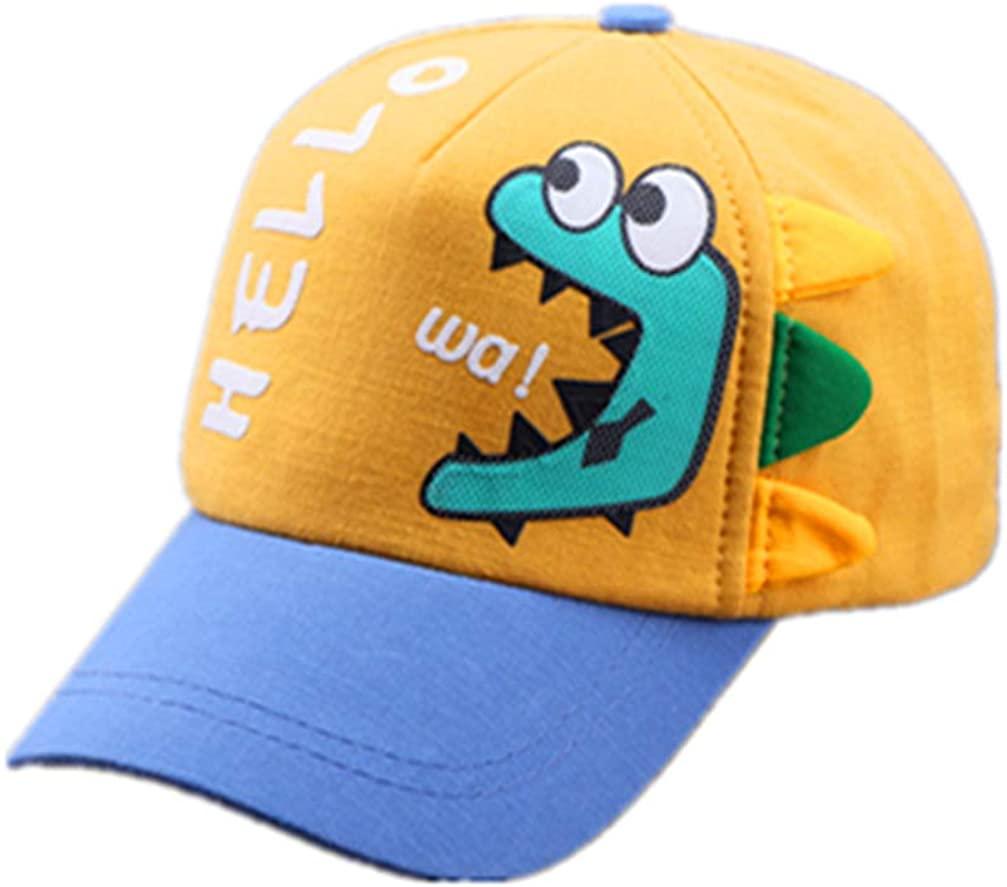 Autumn Korean Children's Baseball Cap Cartoon Printing Dinosaur Child Sun hat Fashion Baby hat