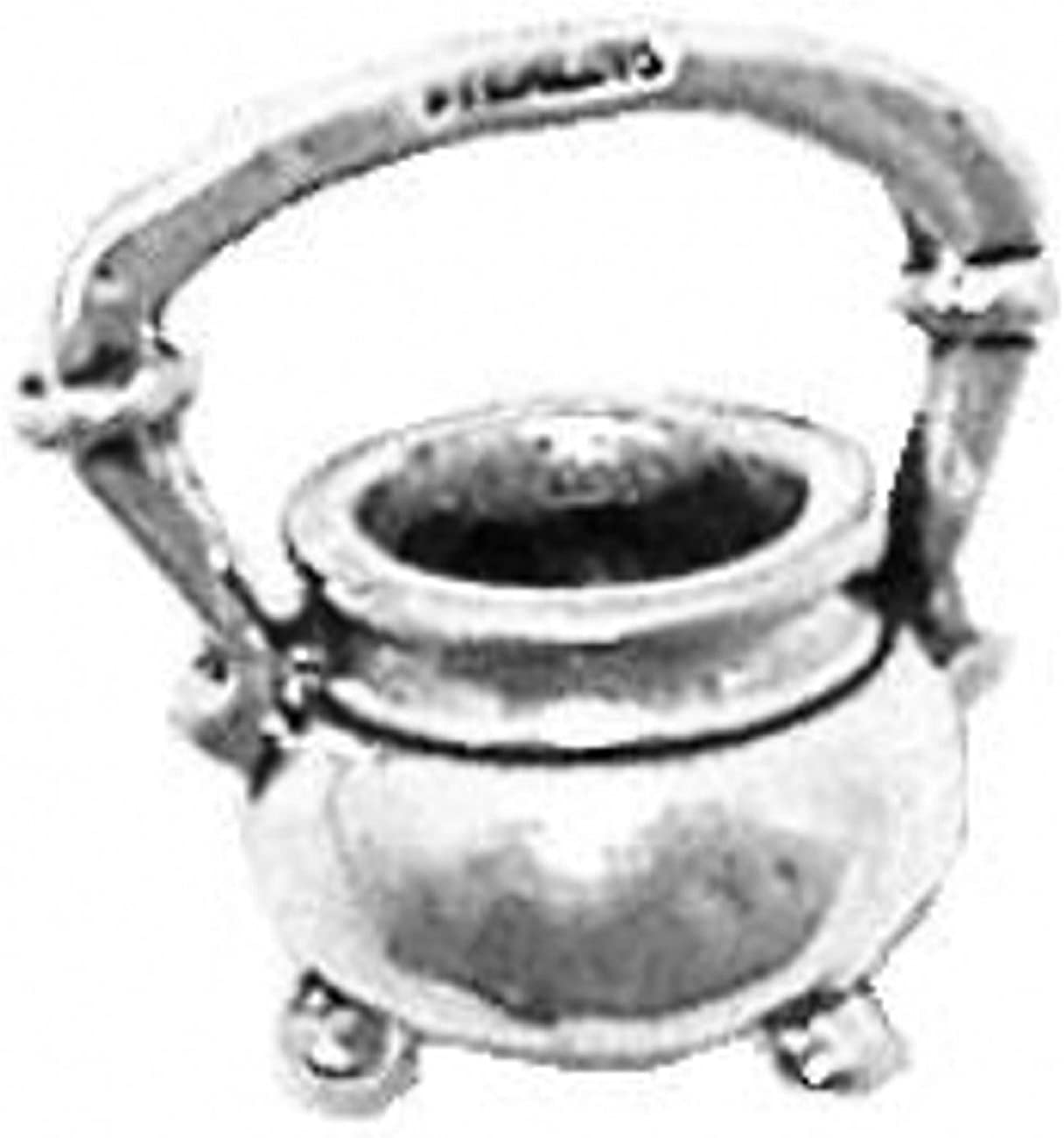 Sterling Silver 3D Kitchen Cooks Iron Kettle Cooking Charm