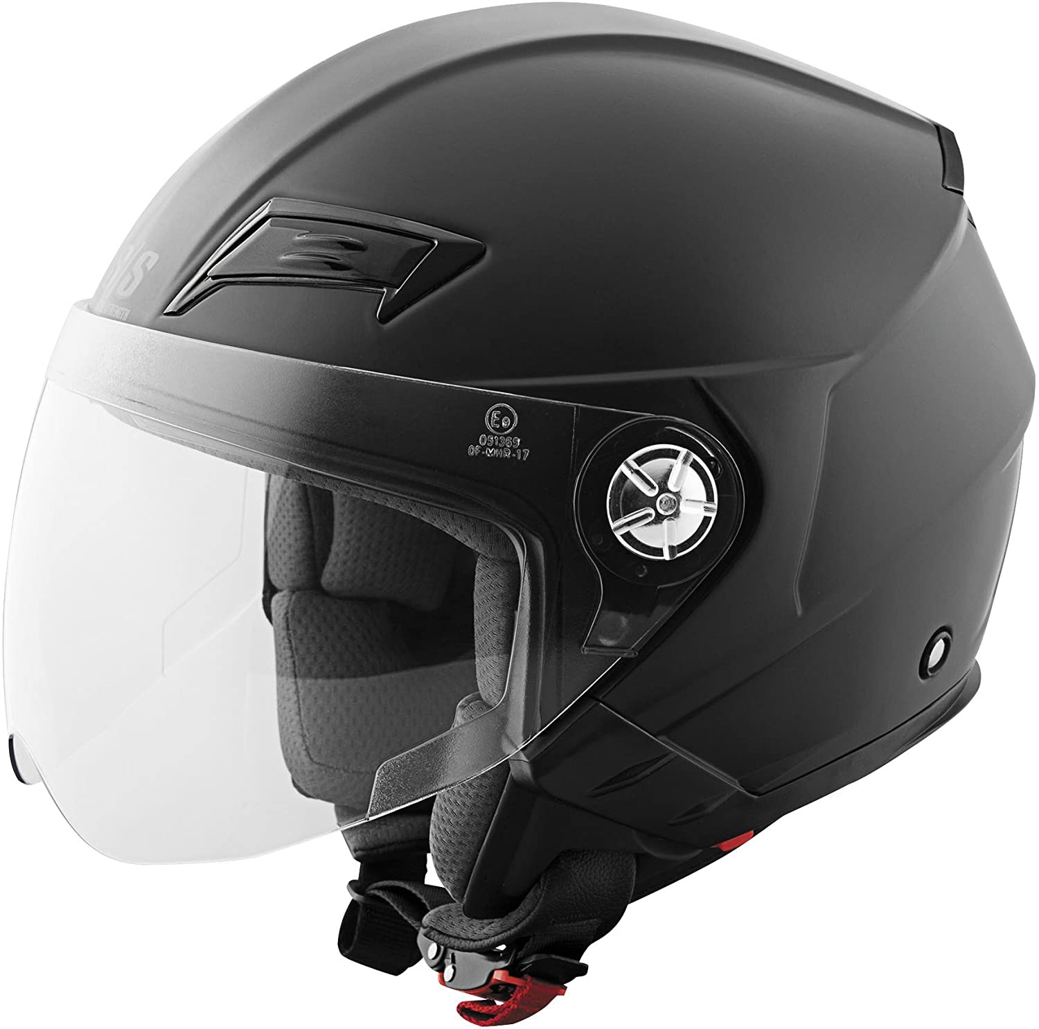Speed and Strength Solid Speed Open Face SS650 Motorcycle Helmet (Matte Black, Small)