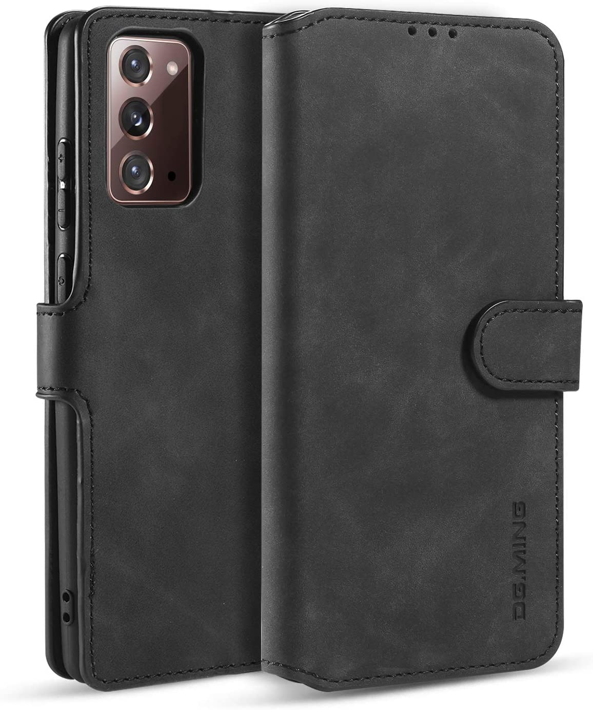 DG.MING Wallet Case for Huawei Nova 5i, Premium Leather Wallet Phone Case Vintage Leather with Viewing Stand & 3 Card Holder Flip Folio Cover with Card Slot