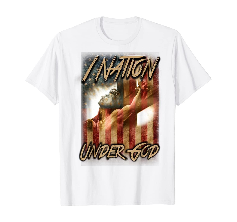 1 Nation Under God - Patriotic American Christian Gift T-Shirt
