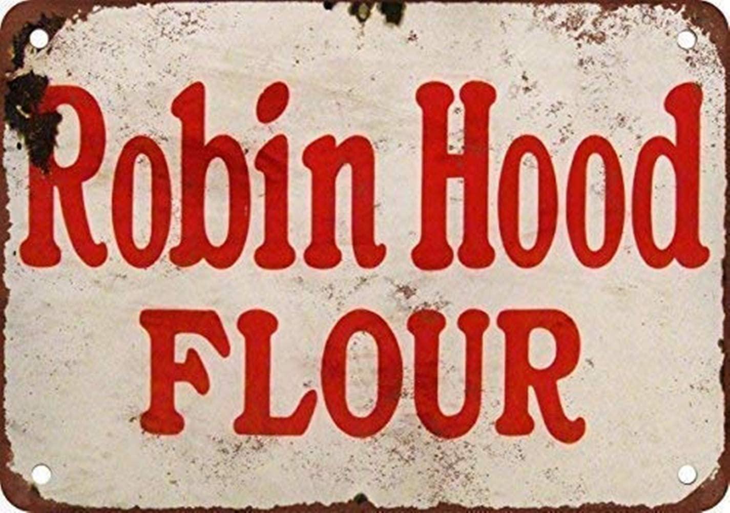 YILMEN New Tin Sign Robin Hood Flour Vintage Look Reproduction Aluminum Metal Sign 8x12 INCH (M4030)